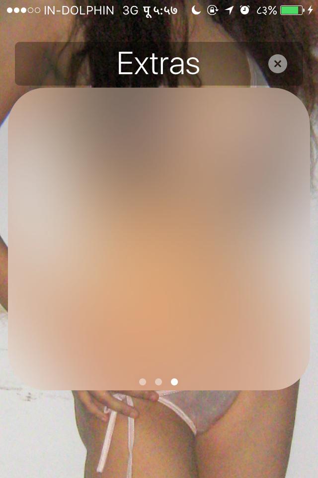 Empty iphone extra screen